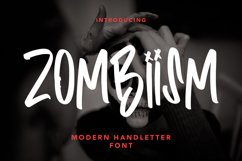 Zombiism - Modern Handletter Font Product Image 1