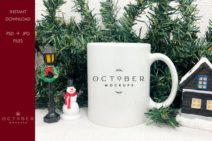 Christmas Mug Mockup   Coffee Mug Mockup with smart object