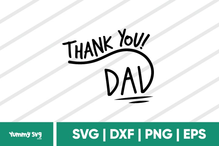 Thank You Dad - Fathers Day SVG