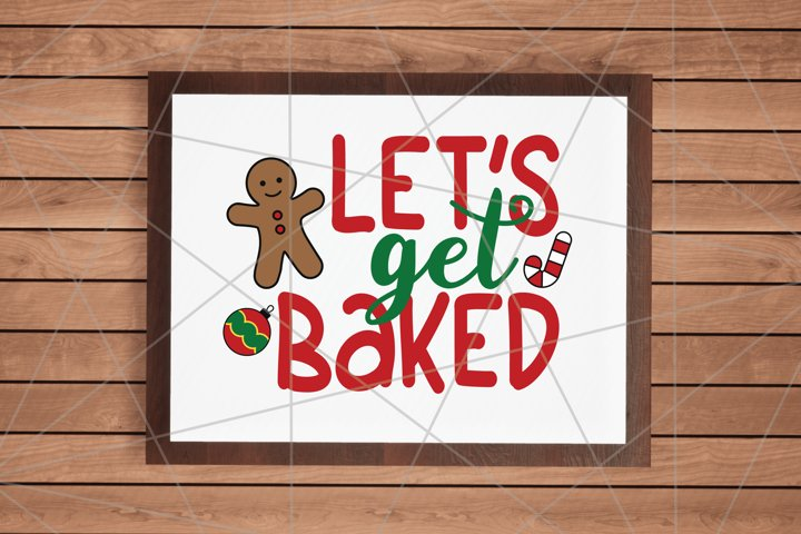 Lets Get Baked Merry Christmas Quote Stars Svg File