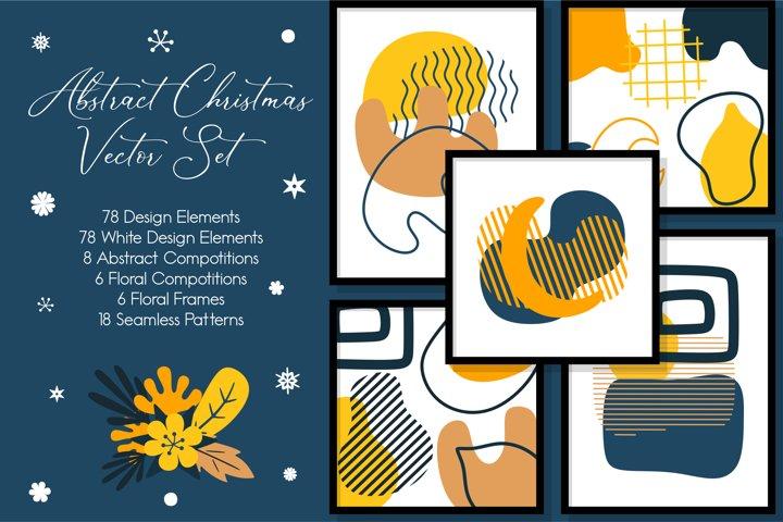 Abstract Christmas Vector Set