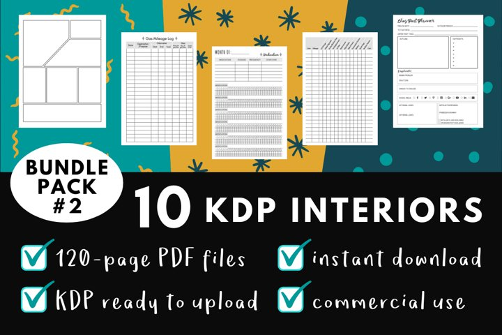 KDP Interior Pack #2 - 10 Templates!