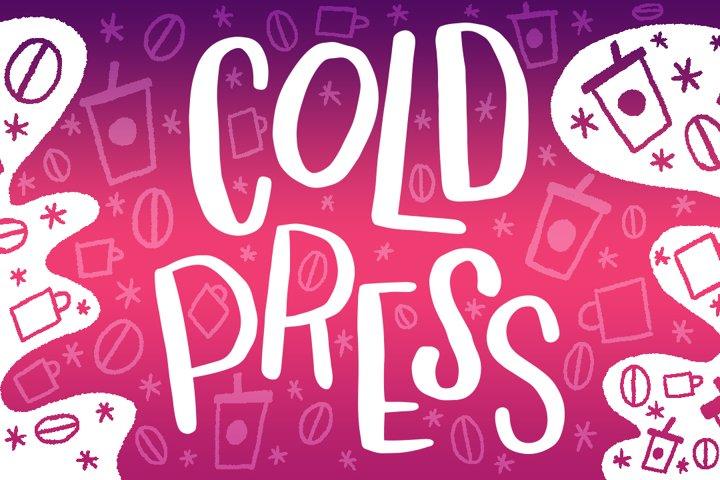 Cold Press Font