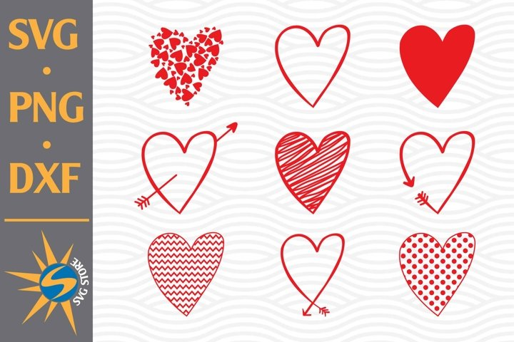 Heart, Arrow Heart SVG, PNG, DXF Digital Files Include