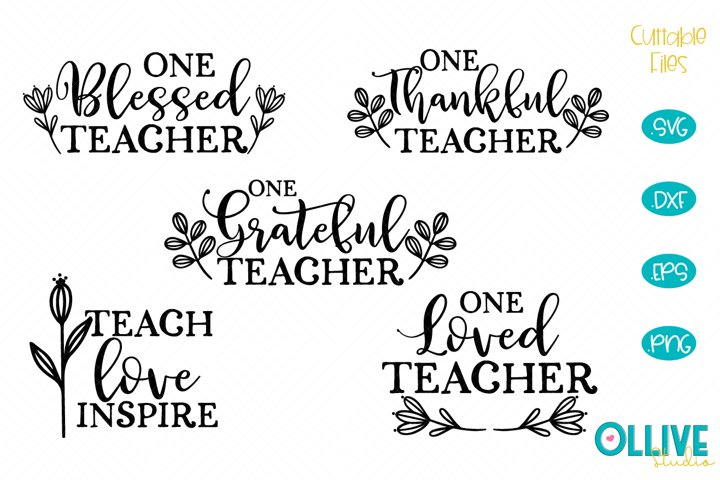 Thanksgiving Thankful Teacher SVG Bundle
