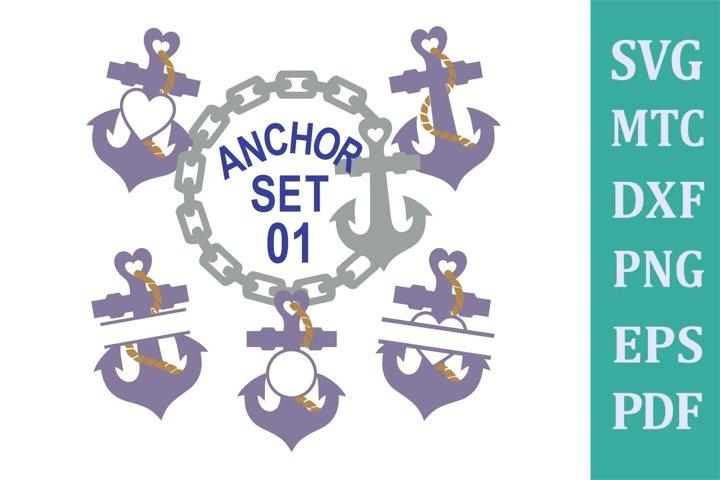 Anchor Set 01 Cruise Bundle Sublimation SVG Cut File