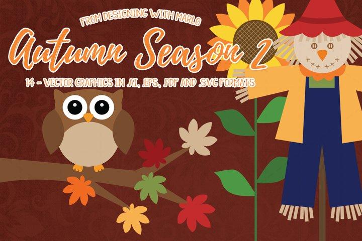 Autumn Season Vector Graphics