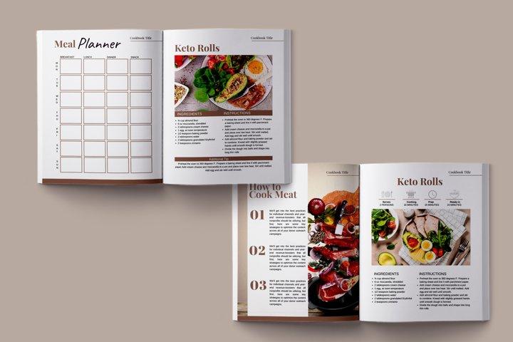 Cookbook Template, Editable Recipe Template
