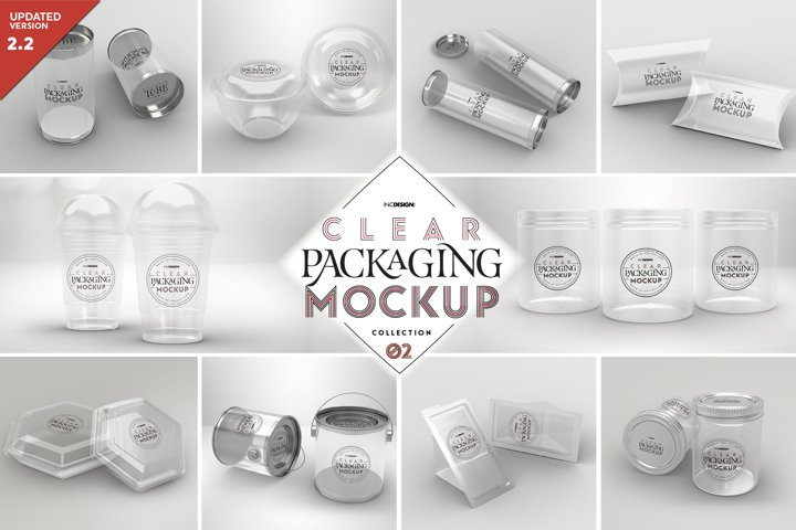 VOL.2 Clear Packaging Mockup Collection