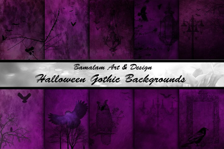 Halloween Gothic Digital Papers
