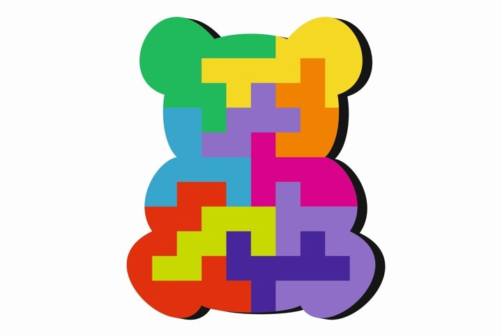 Educational jigsaw puzzle for children