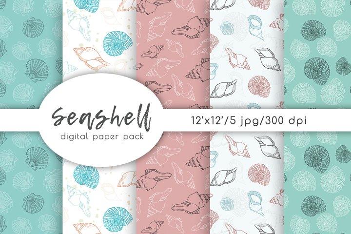 Seashell Digital Paper Pack