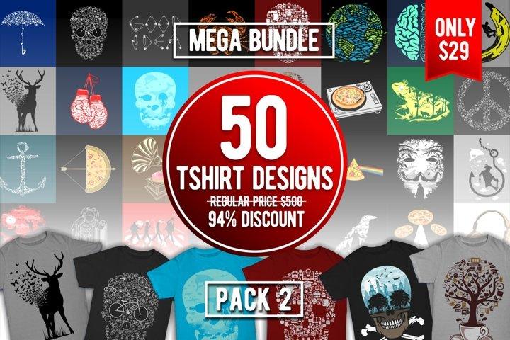 Tshirt Designs Mega Bundle Pack 2
