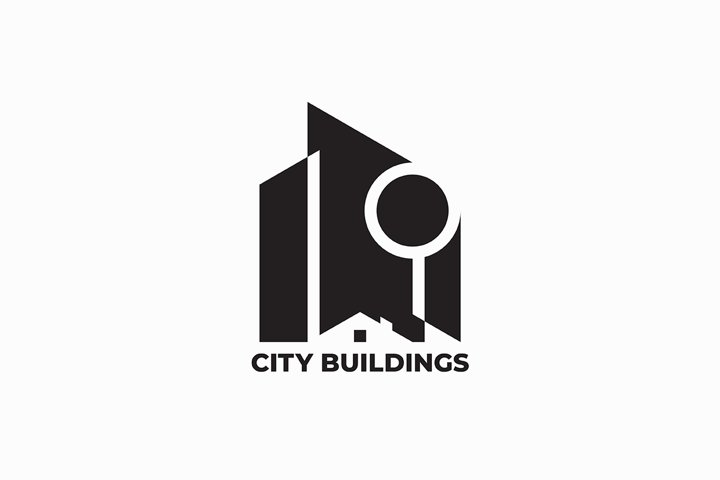 City buildings logo design