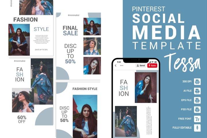 Tessa - Fashion Pinterest Templates