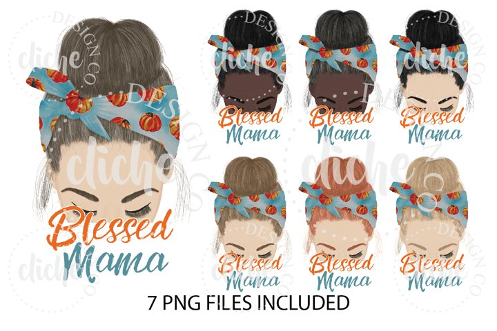 Blessed Mama Fall Sublimation Design Bundle