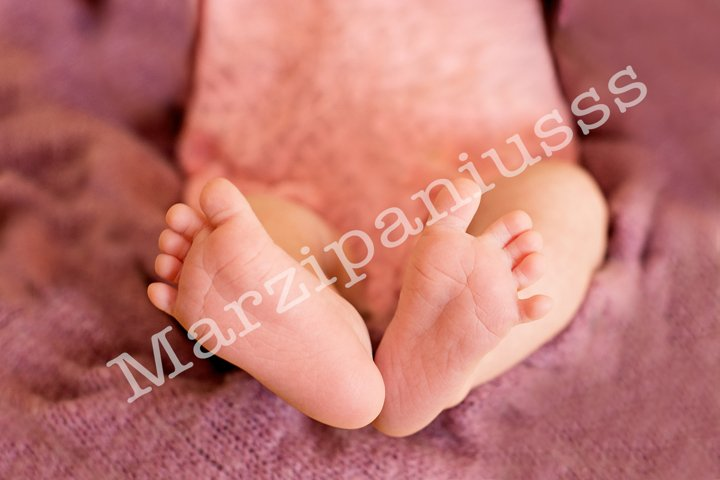 Foot of the newborn baby, tenderness. copy space