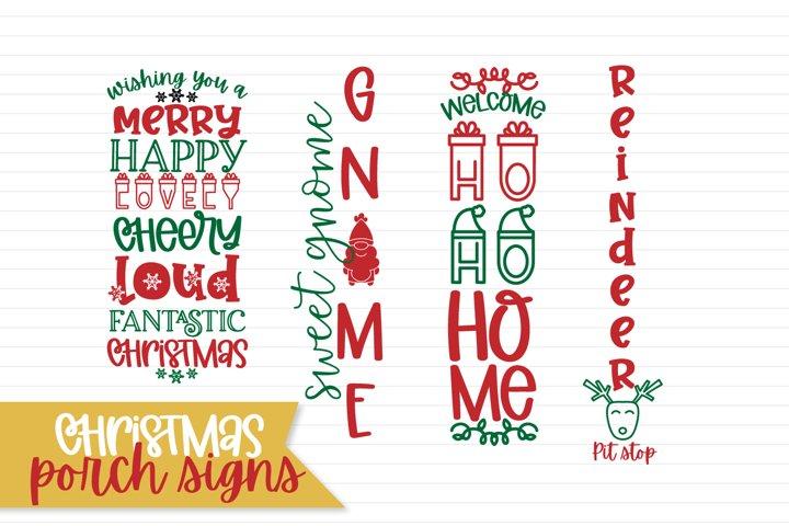 Vertical Christmas Porch Sign Designs - Mini Bundle