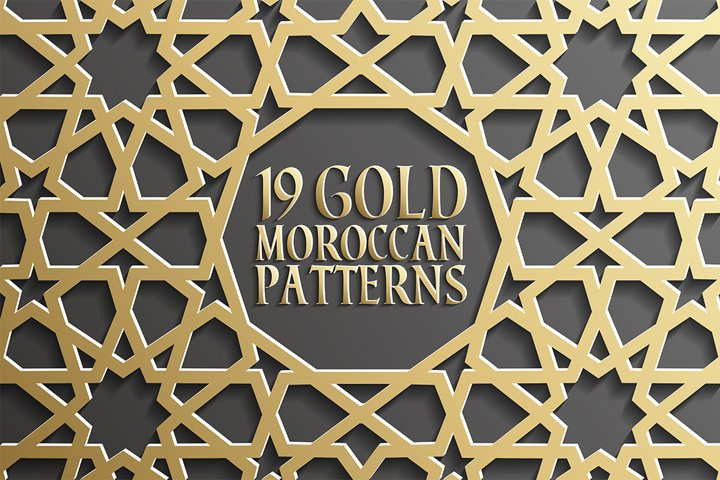 19 Gold Moroccan Patterns
