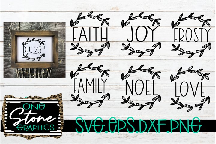 wreath bundle file,love,noel,frosty,joy,floral wreath svgs