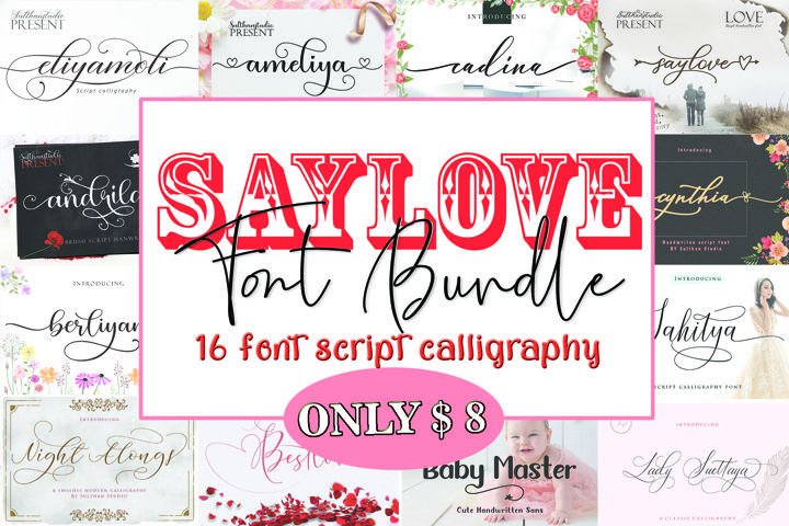 Say Love Font Bundle