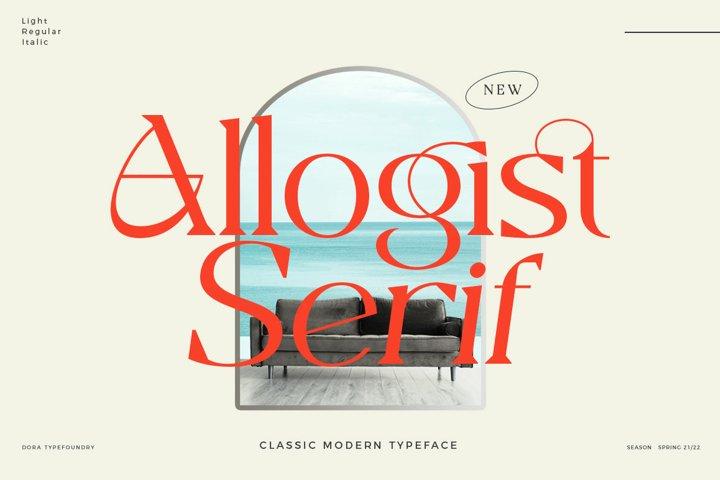 Allogist - Modern Classic Typeface