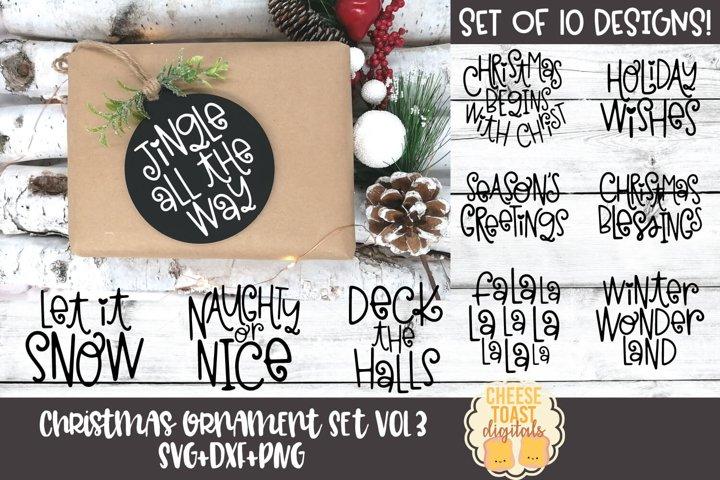 Christmas Ornament Bundle Vol 3 | Christmas SVG for Rounds