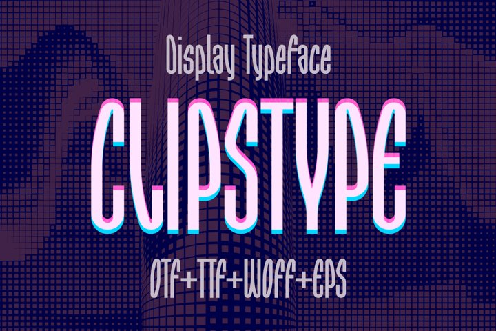 Clipstype Display Font
