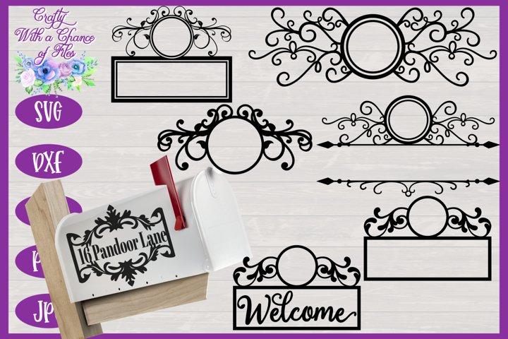 Mailbox Monogram SVG Bundle - Laser Cut Flourish Designs