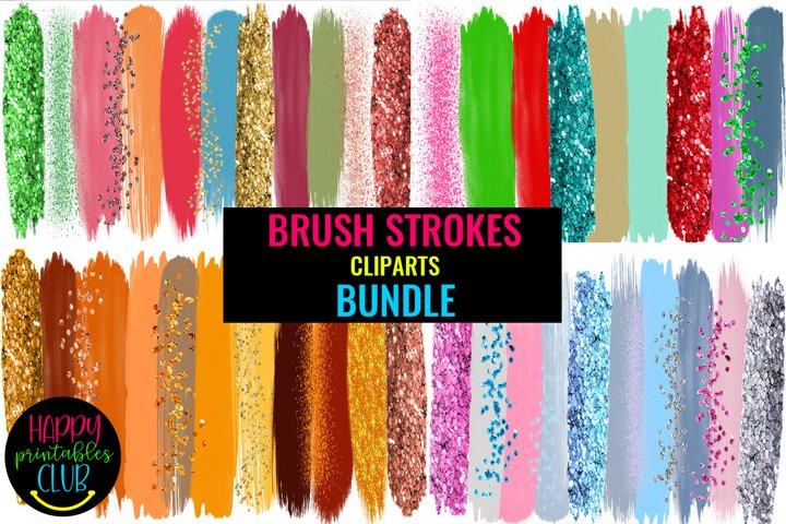 Brush Strokes Clipart Bundle- Big Brush Strokes Bundle Pack