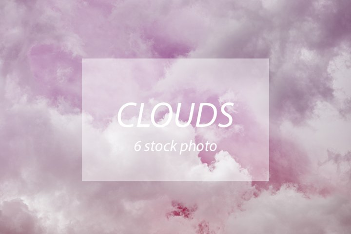 Pink clouds, photo stock bundles