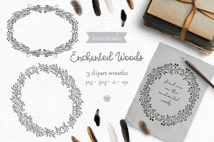 Rustic wedding clipart, digital stamps, hand drawn clipart
