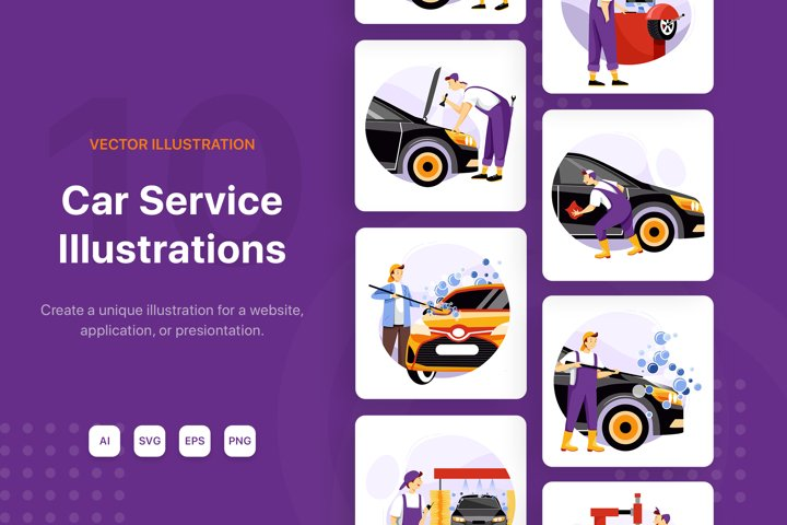 Car Service Illustrations