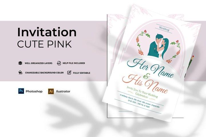 Cute Pink | Invitation