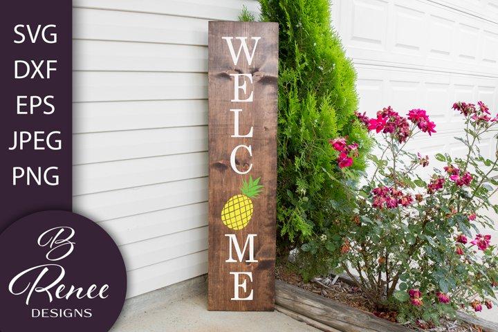 Welcome Sign SVG | Hello Summer Sign SVG | Pineapple SVG
