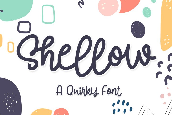 Shellow - a quirky font