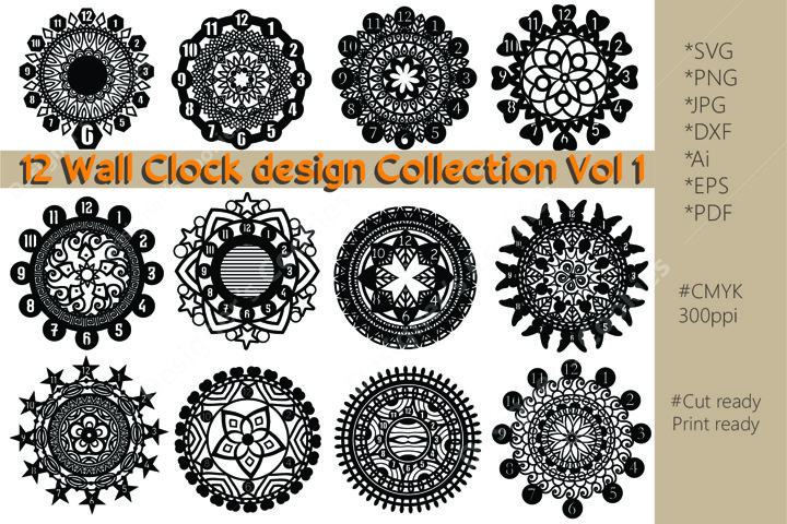 Decorative Wall Clock Design Collection Vol 1