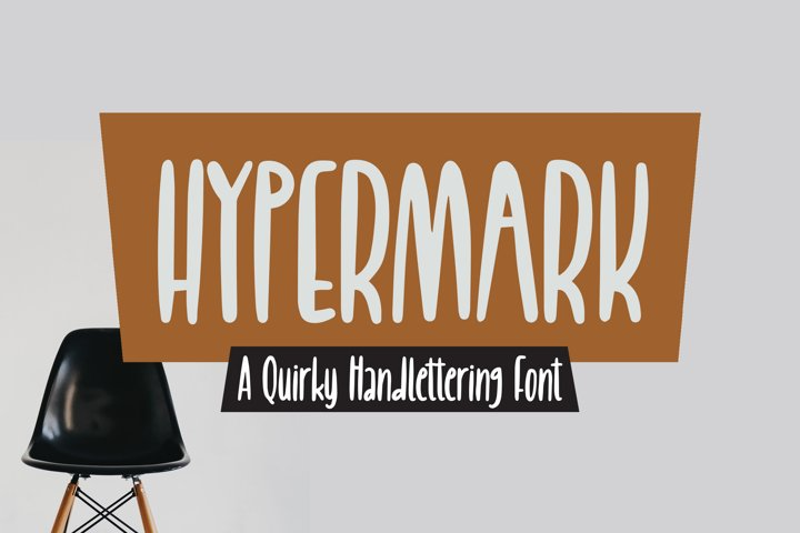 Hypermark - quirky Handlettering Font