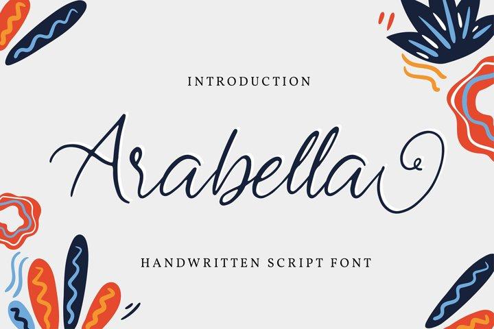Arabella | Handwritten Script Font