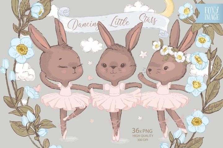 Three Ballerina Bunny