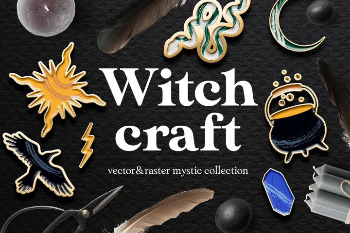 Witchcraft vector mystery collection