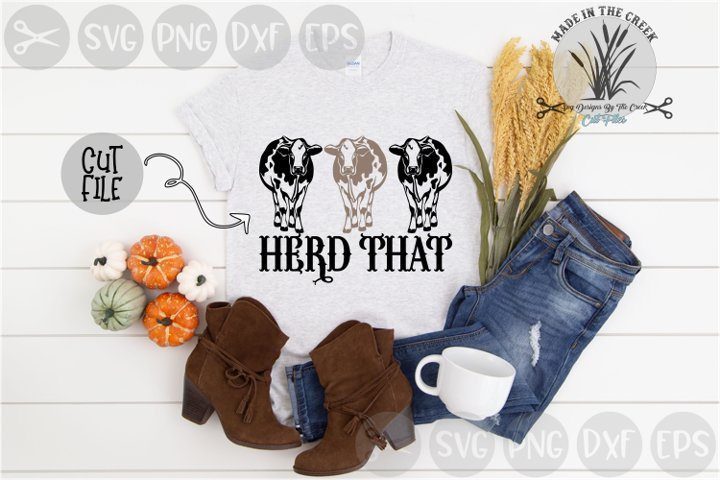 Herd That, Cows, Heard That, Animals, Cut File, SVG