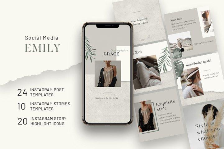 Emily - Social media pack