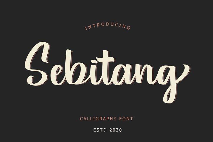 Sebitang Calligraphy Font