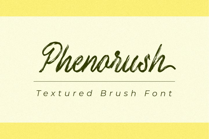 Phenorush - Textured Brush Font