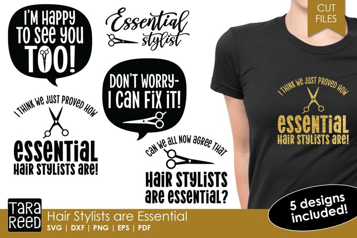 Hair Stylists are Essential - Hairdresser SVG & Cut Files