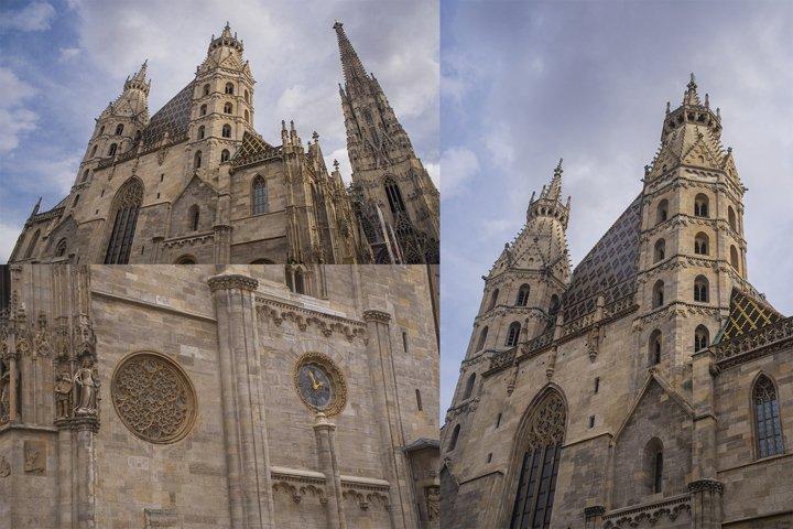 set photo church St. Stephens Cathedral in Austria Vienna