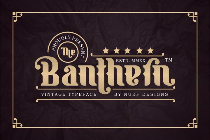 Banthern - Web Font