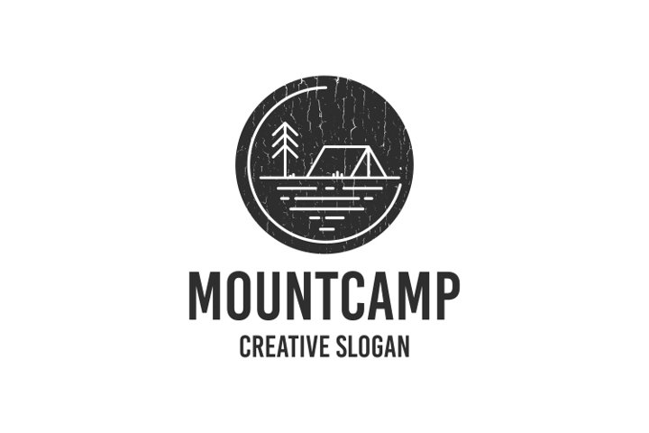 Retro Vintage Mountain Logo