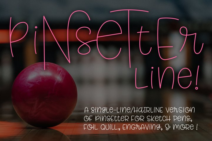 Pinsetter Line - for single-line and hairline sketch quill!